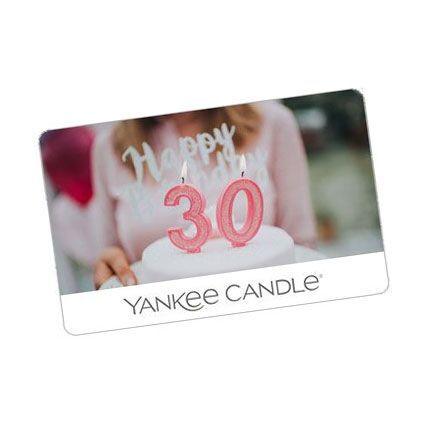 yankee candle birthday gift card