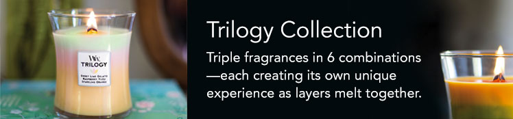 WoodWick Trilogy Candle Collection - Triple fragrances in 6 combinations