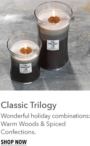 Classic Trilogy: Wonderful Holiday combinations - Warm Woods and Spiced Confections.