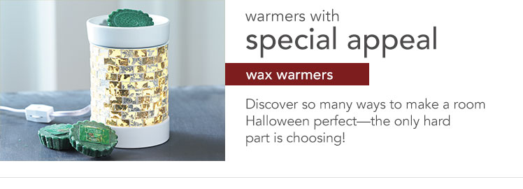 Wax Melts & Warmers: decorative wax warmers and wax melts that fragrance a room in seconds.