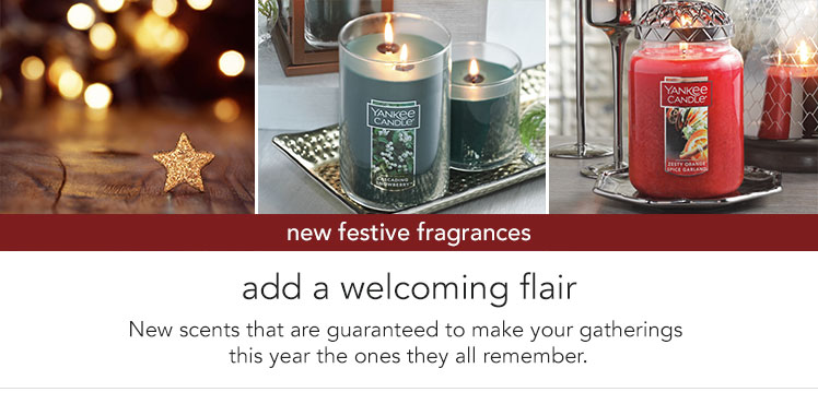 New Arrivals: Candles - new fragrances and designs for the current season.