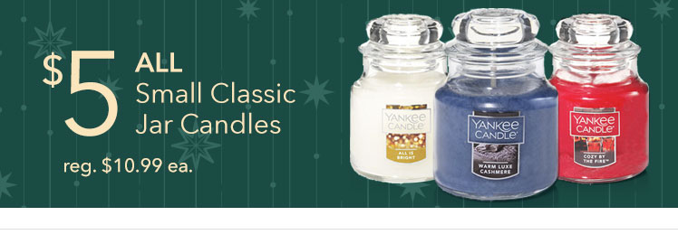 $5 ALL Small Classic Jar Candles