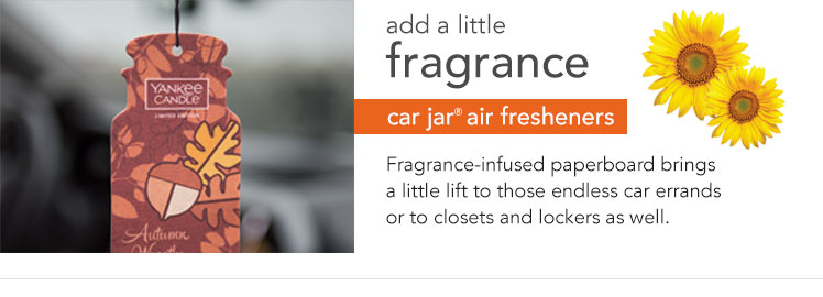 Car Jar car air fresheners: Fragrance-infused paperboard refreshes cars and small spaces.