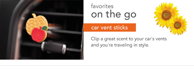 Vent Sticks - Bring your favorite scent on the road with you to freshen your commute.