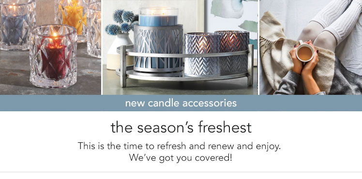 New Arrivals: Candle Accessories - new decorative designs for the current season.