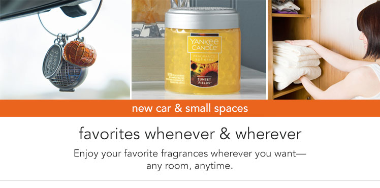 New Arrivals: Cars & Small Spaces - new fragrances and designs for the current season.