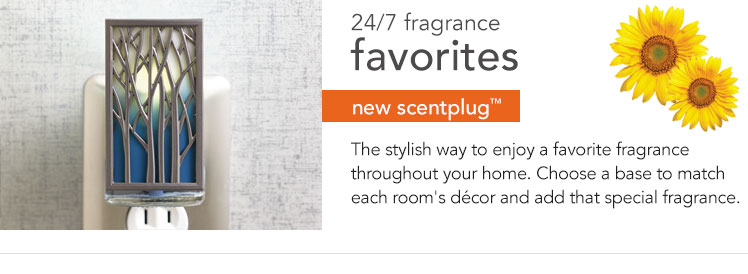 New Arrivals: ScentPlug Bases and Refills - new designs and fragrances for the current season.