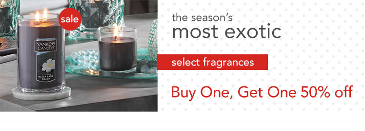 Summer Fragrance Candles are Buy 1, Get 1 50% Off