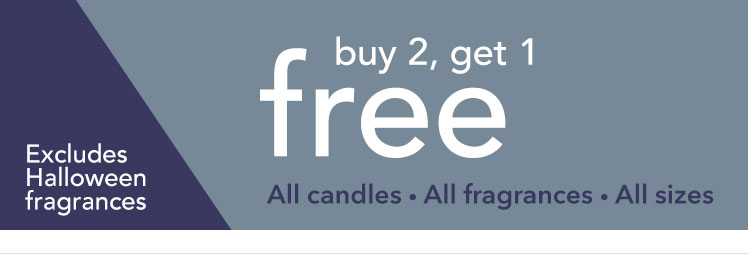Buy 2, Get 1 Free Candles