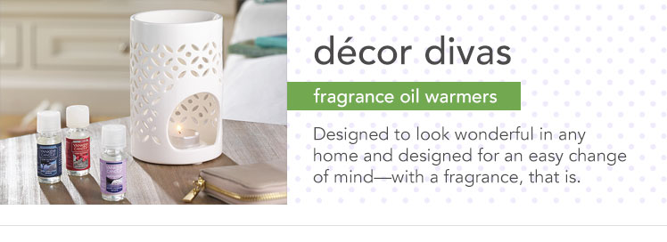 Fragrance Oil Warmers: Change fragrance oil easily with decorative oil warmers.