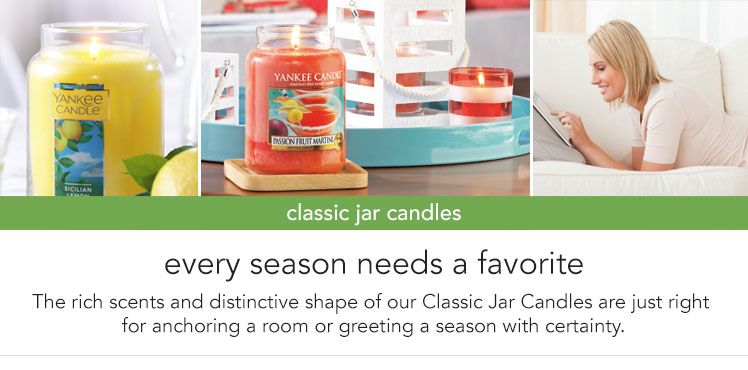 Jar Candles: Rich scents in a distinctive jar shape.