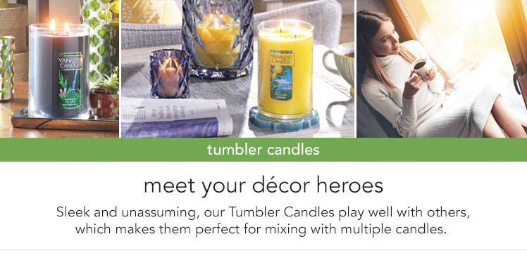 Tumbler Candles: the perfect shape for mixing with multiple candles of different sizes.