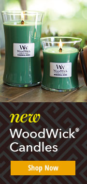 Shop Woodwick Candles: They crackle as they burn with signature fragrances.