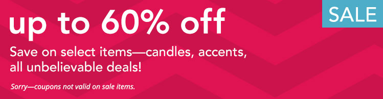 Yankee Candle Sale Outlet: Save up to 60% on candles and accessories.