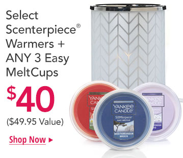 2 FREE Meltcups with the purchase of a Scenterpiece Warmer
