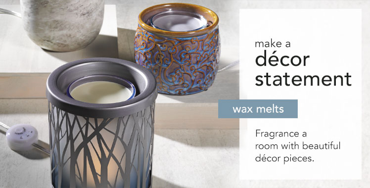 Wax melts: fragrance a room with beautiful decor pieces.