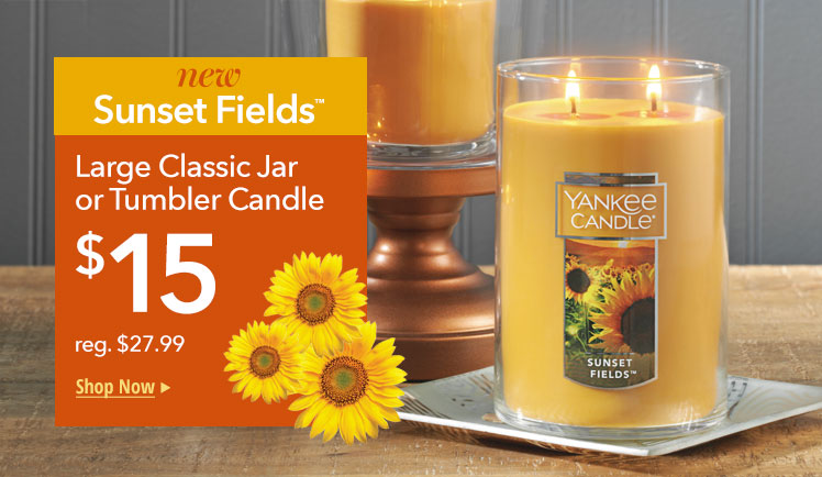 NEW Sunny Fields Large Jars or Tumblers: only $15. Shop Now.