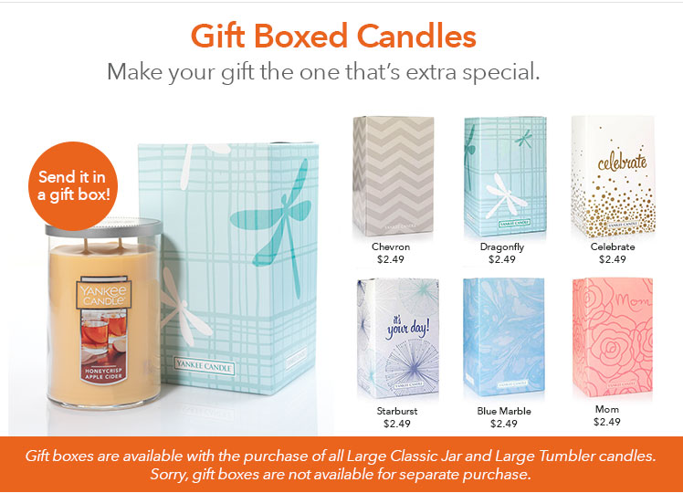 Gift Boxing Options for Large Candles