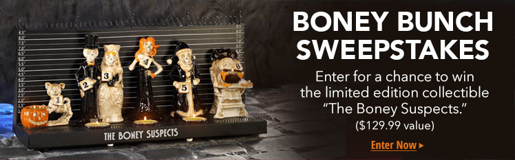 Halloween Candles and Accessories: Enter for a chance to win Boney Bunch Merchandise