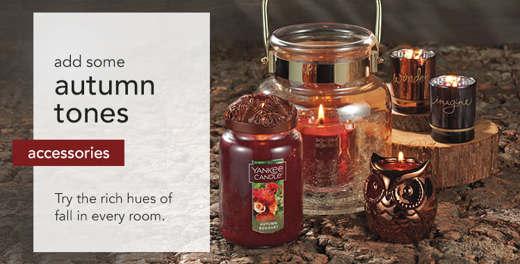 Candle Accessories: Try the rich hues of fall in every room.