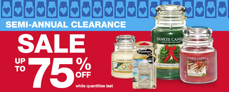 Yankee Candle Semi-Annual Clearance Sale