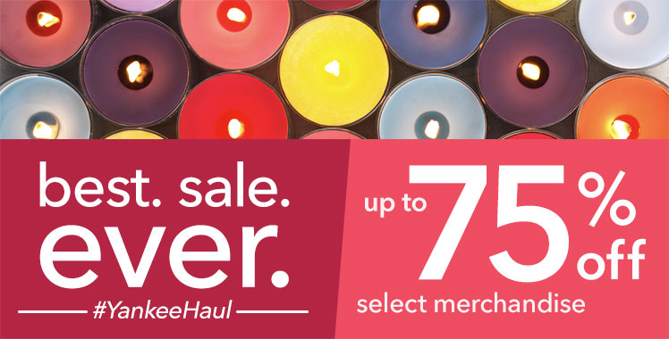 Semi-Annual Sale: Save up to 75% on candles and accessories.