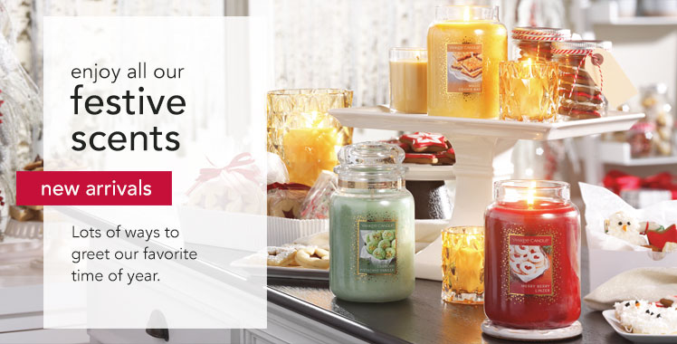 Yankee Candles - new arrivals in candles and candle accessories