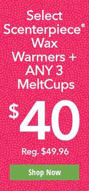 Select Scenterpiece® Wax Warmers + ANY 3 MeltCups