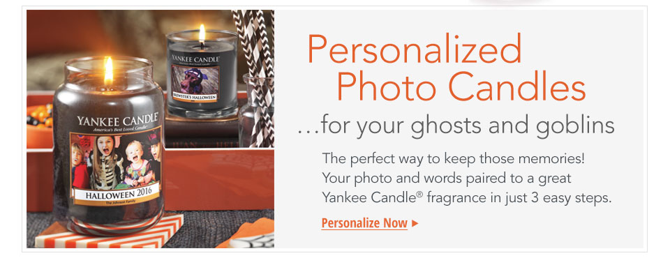Personalize a candle with your photo