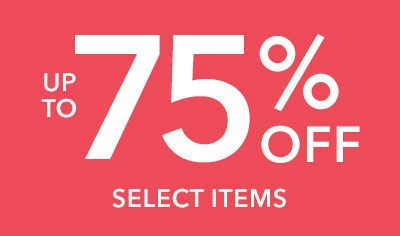 Up to 75% Savings