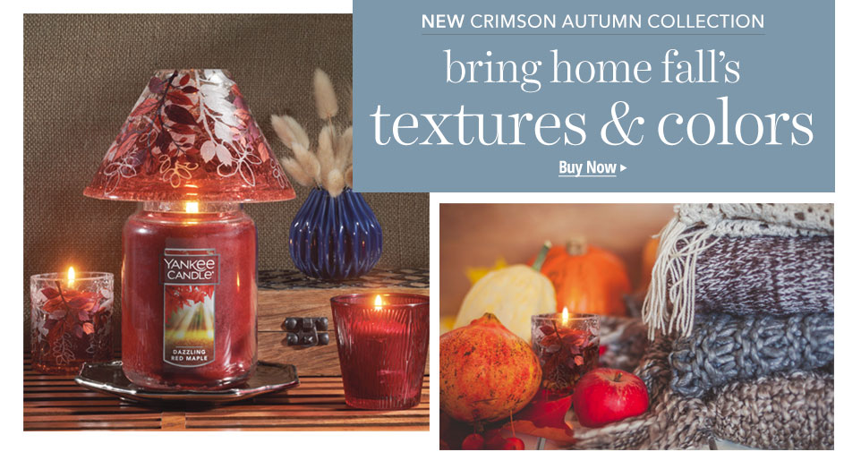 Shop the Crimson Autumn Collection for Candle Accessories.