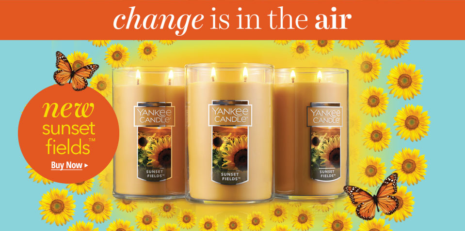 Shop New Sunset Fields Candles - Change is in the air.