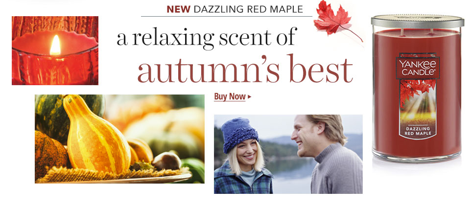 Shop New Dazzling Red Maple Fragrance Candles.