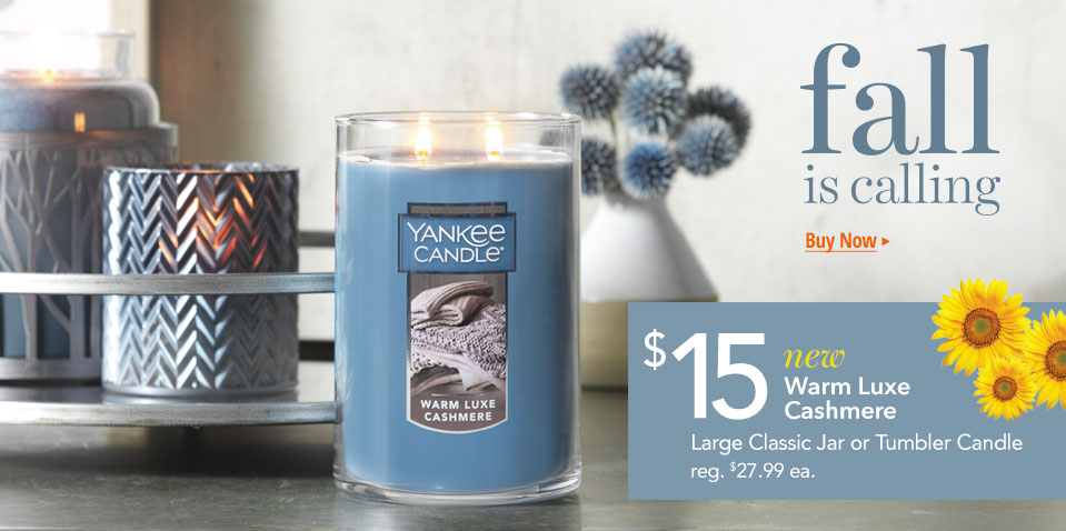 Shop Discount on New Large Candle Warm Luxe Cashmere Fragrance