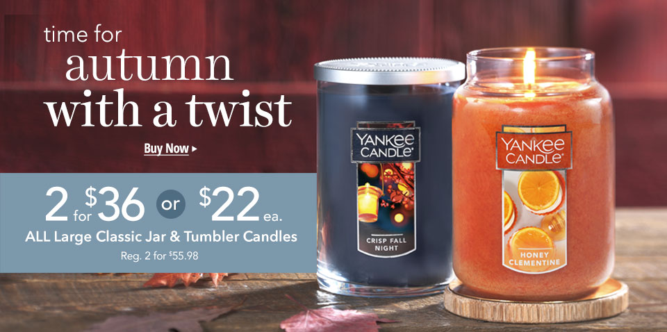 All Large Candles: $22 each or 2 for $36