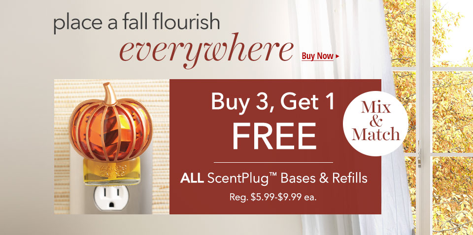 ScentPlug Bases and Refills: Buy 3 Get 1 FREE