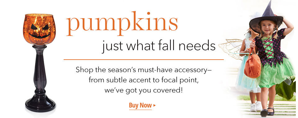 Pumpkins: Just what fall needs. Shop the Halloween season's must-have accessories.