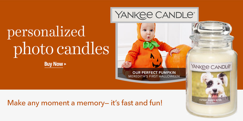Personalized Photo Candles: Make any moment a memory - available online. Create a personalized candle.