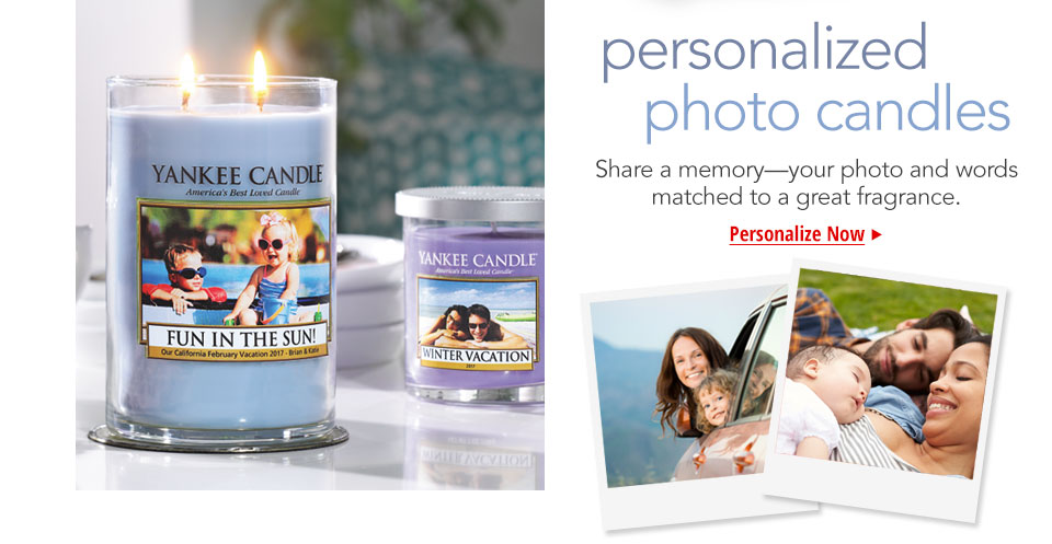 Personalized Photo Candles for Valentines
