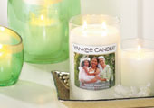 A picture-perfect gift! Personalized Candles make Sweet Valentines.