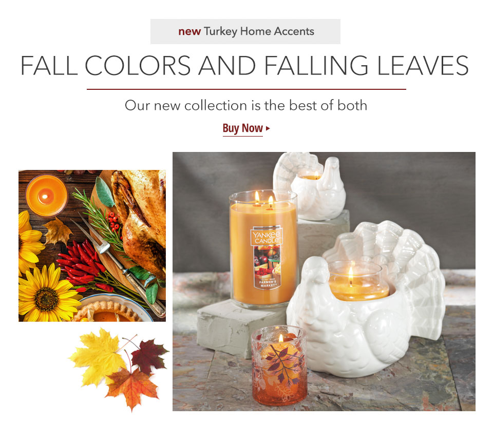 New Turkey Home Accents: Fall Colors and Falling Leaves. Our new collection is the best of both. Buy Now