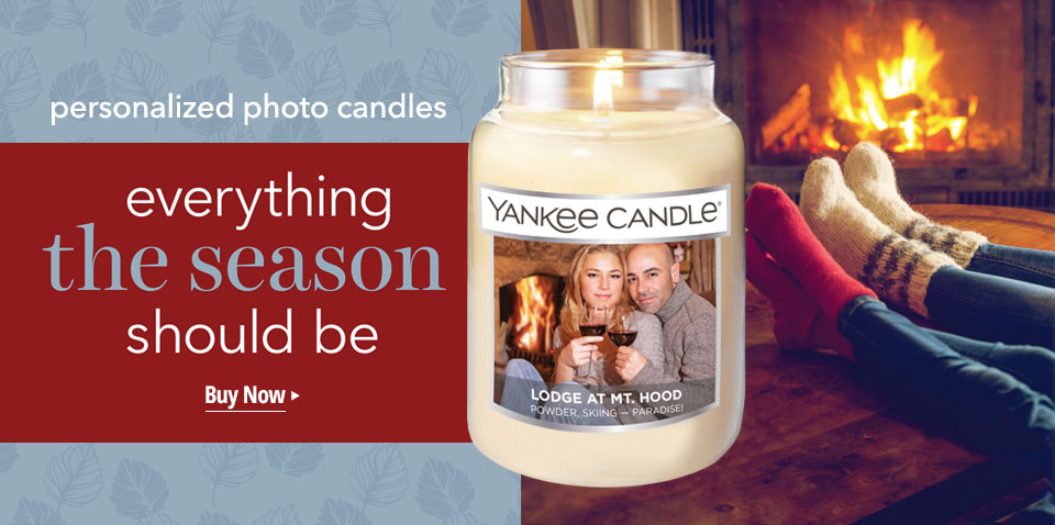 Personalized Photo Candles: everything the season should be. Create a personalized candle.