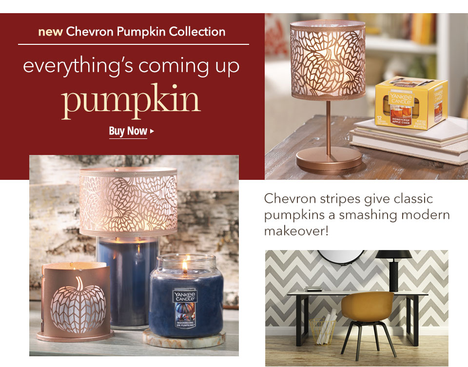 new Chevron Pumpkin Collection: everything's coming up pumpkin. Buy Now