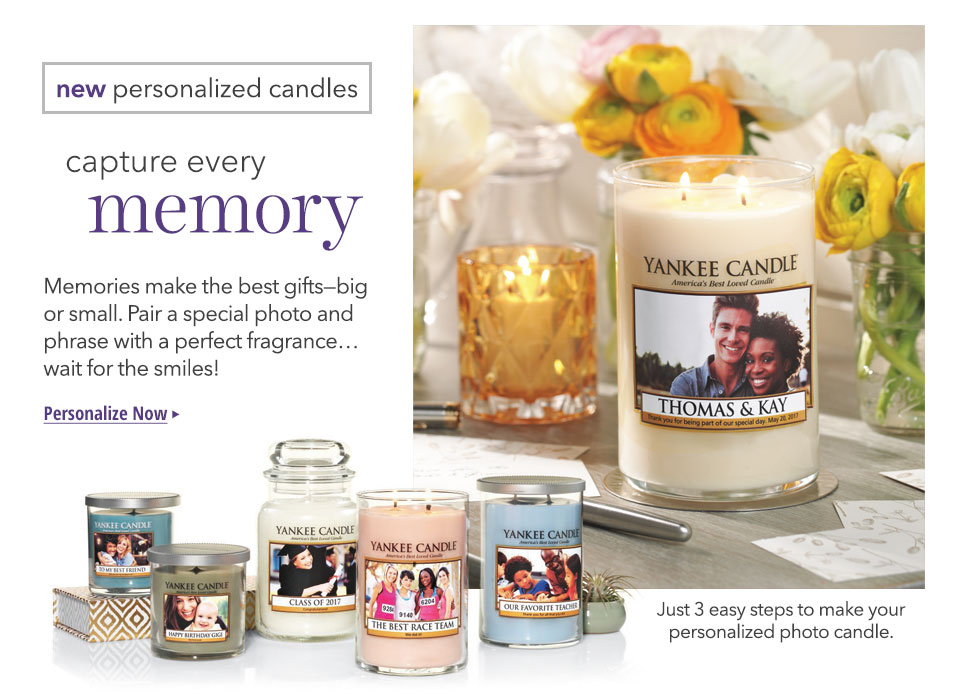 Personalized Photo Candles for Spring