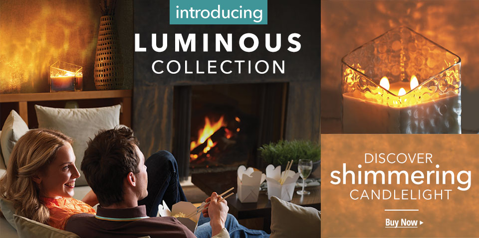 Discover shimmering candlelight with our new Luminous Collection