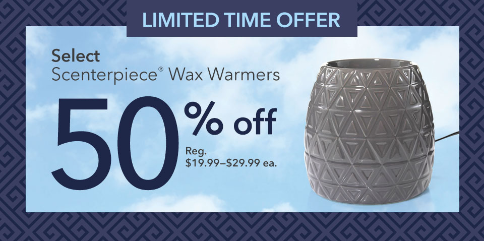50% off Scenterpiece Wax Warmers