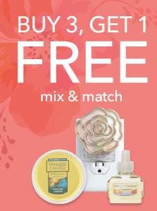 Buy 3, Get 1 FREE. Mix & Match