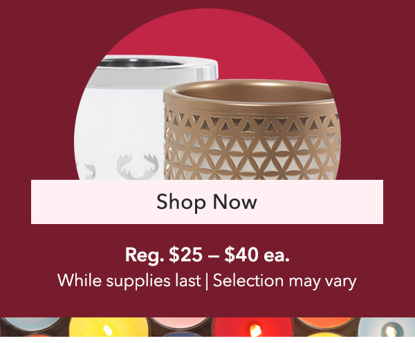40% Off Select Scenterpiece® Warmers