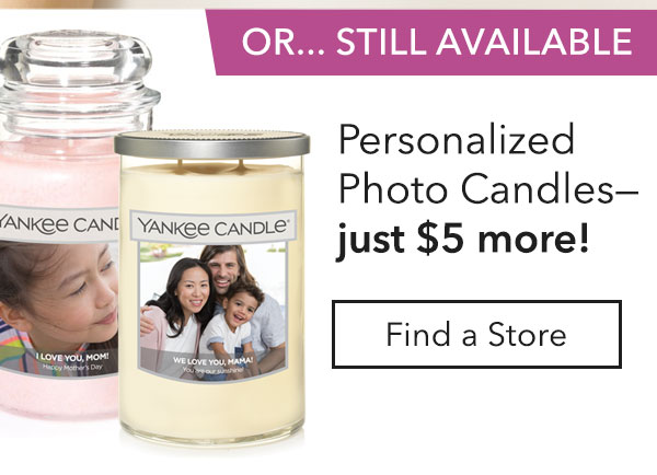 Still Available: Personalized Photo Candles Just $5 More