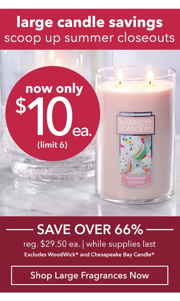 Large Candles - $10 ea.